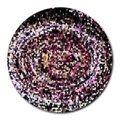 Mosaic Colorful Abstract Circular Round Mousepads