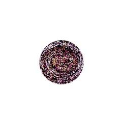Mosaic Colorful Abstract Circular 1  Mini Magnets