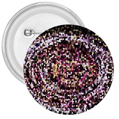 Mosaic Colorful Abstract Circular 3  Buttons