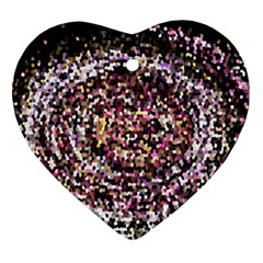 Mosaic Colorful Abstract Circular Ornament (heart)