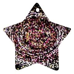Mosaic Colorful Abstract Circular Ornament (star)