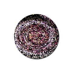 Mosaic Colorful Abstract Circular Rubber Round Coaster (4 Pack)