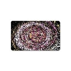 Mosaic Colorful Abstract Circular Magnet (name Card)