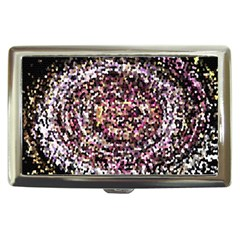 Mosaic Colorful Abstract Circular Cigarette Money Cases