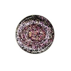 Mosaic Colorful Abstract Circular Hat Clip Ball Marker