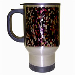 Mosaic Colorful Abstract Circular Travel Mug (silver Gray)
