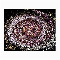 Mosaic Colorful Abstract Circular Small Glasses Cloth
