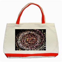 Mosaic Colorful Abstract Circular Classic Tote Bag (red)