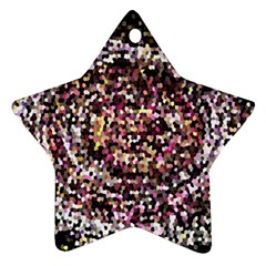 Mosaic Colorful Abstract Circular Star Ornament (Two Sides)