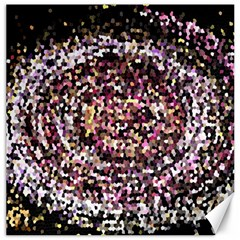 Mosaic Colorful Abstract Circular Canvas 12  X 12