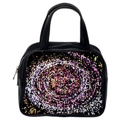 Mosaic Colorful Abstract Circular Classic Handbags (One Side)