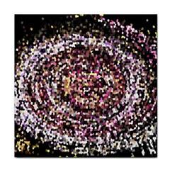 Mosaic Colorful Abstract Circular Face Towel