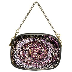 Mosaic Colorful Abstract Circular Chain Purses (one Side)