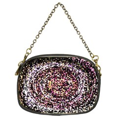 Mosaic Colorful Abstract Circular Chain Purses (two Sides)
