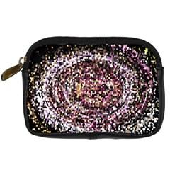 Mosaic Colorful Abstract Circular Digital Camera Cases
