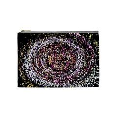 Mosaic Colorful Abstract Circular Cosmetic Bag (medium)