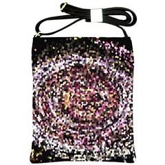 Mosaic Colorful Abstract Circular Shoulder Sling Bags
