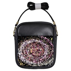 Mosaic Colorful Abstract Circular Girls Sling Bags