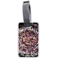 Mosaic Colorful Abstract Circular Luggage Tags (One Side)