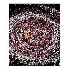 Mosaic Colorful Abstract Circular Shower Curtain 60  X 72  (medium)