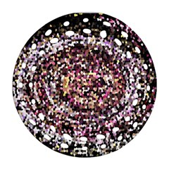 Mosaic Colorful Abstract Circular Ornament (round Filigree)
