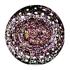 Mosaic Colorful Abstract Circular Round Filigree Ornament (2side)