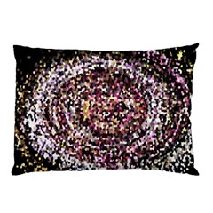 Mosaic Colorful Abstract Circular Pillow Case (two Sides)