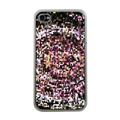 Mosaic Colorful Abstract Circular Apple Iphone 4 Case (clear)