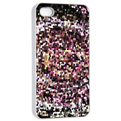 Mosaic Colorful Abstract Circular Apple Iphone 4/4s Seamless Case (white)