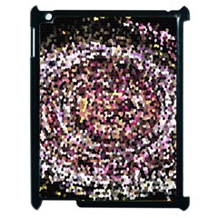 Mosaic Colorful Abstract Circular Apple Ipad 2 Case (black)