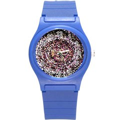 Mosaic Colorful Abstract Circular Round Plastic Sport Watch (s)