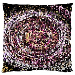 Mosaic Colorful Abstract Circular Large Cushion Case (two Sides)