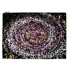 Mosaic Colorful Abstract Circular Cosmetic Bag (xxl)