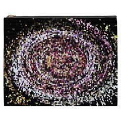 Mosaic Colorful Abstract Circular Cosmetic Bag (xxxl)