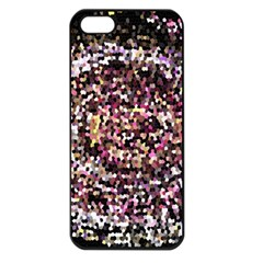 Mosaic Colorful Abstract Circular Apple Iphone 5 Seamless Case (black)