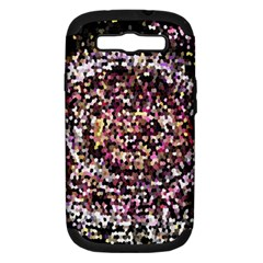 Mosaic Colorful Abstract Circular Samsung Galaxy S III Hardshell Case (PC+Silicone)