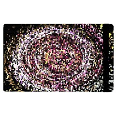 Mosaic Colorful Abstract Circular Apple Ipad 2 Flip Case