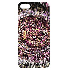 Mosaic Colorful Abstract Circular Apple Iphone 5 Hardshell Case With Stand