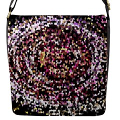 Mosaic Colorful Abstract Circular Flap Messenger Bag (s)
