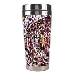 Mosaic Colorful Abstract Circular Stainless Steel Travel Tumblers