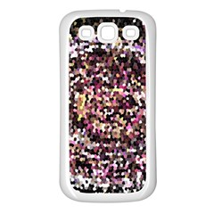 Mosaic Colorful Abstract Circular Samsung Galaxy S3 Back Case (white)