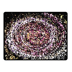 Mosaic Colorful Abstract Circular Double Sided Fleece Blanket (small)