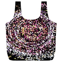 Mosaic Colorful Abstract Circular Full Print Recycle Bags (l)