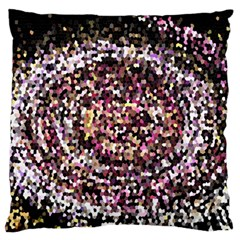 Mosaic Colorful Abstract Circular Large Flano Cushion Case (one Side)