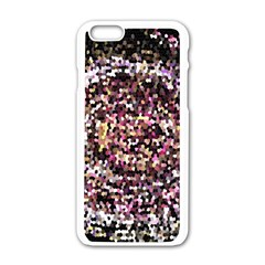 Mosaic Colorful Abstract Circular Apple Iphone 6/6s White Enamel Case