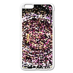 Mosaic Colorful Abstract Circular Apple Iphone 6 Plus/6s Plus Enamel White Case