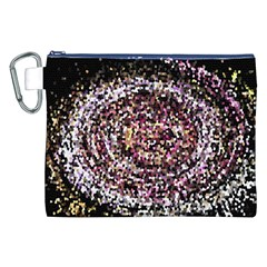 Mosaic Colorful Abstract Circular Canvas Cosmetic Bag (xxl)