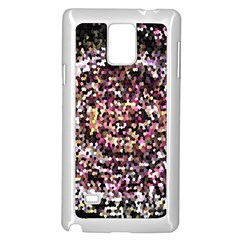 Mosaic Colorful Abstract Circular Samsung Galaxy Note 4 Case (white)
