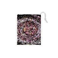 Mosaic Colorful Abstract Circular Drawstring Pouches (xs)
