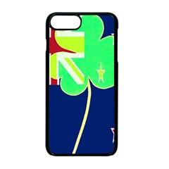 Irish Shamrock New Zealand Ireland Funny St Patrick Flag Apple Iphone 7 Plus Seamless Case (black)